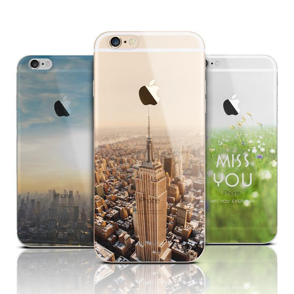 Case Cover for iPhone Ultra TPU Mountain Clear 6 6S Plus 5 5S SE-GKandaa.net