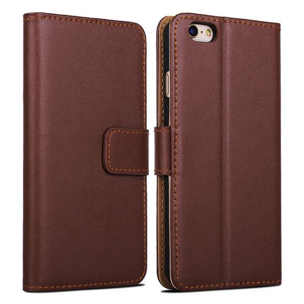 Case Cover for iPhone 100% genuine leather 6 Wallet 2 card holder 6-GKandaa.net