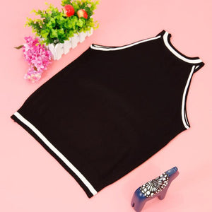 Girls Sweaters vest short Sleeveless y pullover cotton tops-GKandaa.net