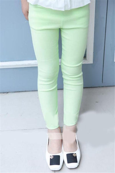 Girls Jeans Color pants Casual pants toddler-GKandaa.net