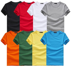 Men's T-Shirts Fashion Slim blue gray white Fit 6 size S-XXXL-GKandaa.net
