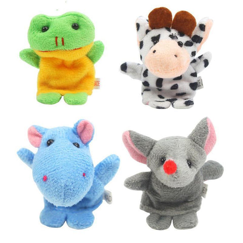Children's puppet finger Doll 10Pcs Biological Plush Favor Story K5BO-GKandaa.net