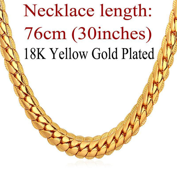 Necklaces lace Rose Gold/Platinum/ Gu/18K Real Gold Plated 6MM N739-30-GKandaa.net