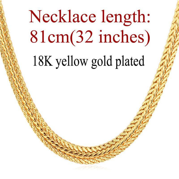 Necklaces 6MM 71/76/81CM Platinum/ Gu/Rose Gold/18K Real Gold Plated-GKandaa.net