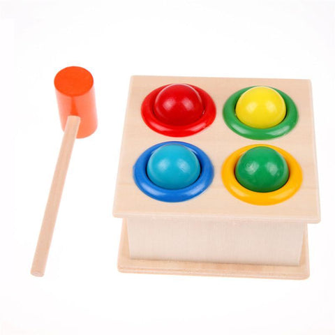Wooden Baby Toys Ball Hammer Box Early Learning-GKandaa.net