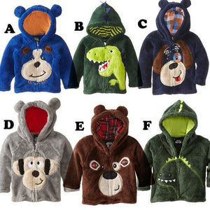 Boys Sweaters Sell bear Hoodie Fleece dog jacket:s coats-GKandaa.net