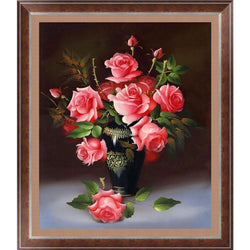 New5D DIY diamond Painting Rose flower 3D Cross Stitch diamond embroidery mosaic diamonds wall stickers home decor - GKandAa - 1