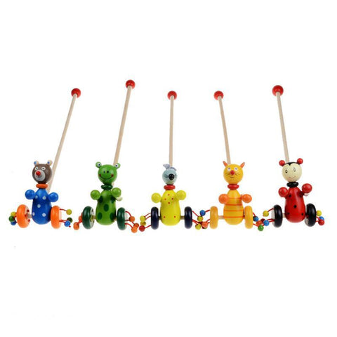 Wooden Baby Toys Toddler Puzzle Trolley-GKandaa.net