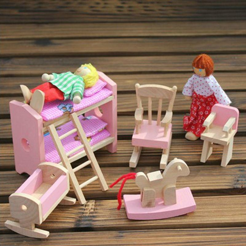 Wooden Kids Baby Toys Furniture Dollhouse Miniature-GKandaa.net