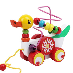 Wooden Baby Toys Beads Trailer mini Around-GKandaa.net