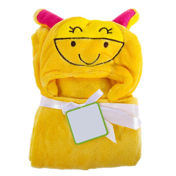 Cartoon Animal Baby Hooded Bathrobe Bath Towels-GKandaa.net