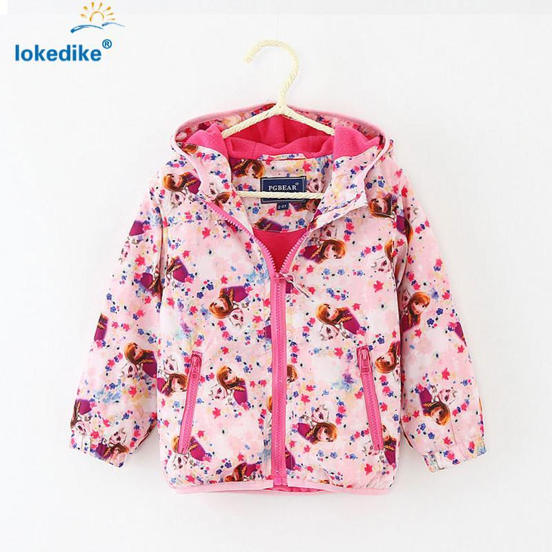 Girls Outerwear Coat Coat Hooded jacket Toddler Outwear T694-GKandaa.net