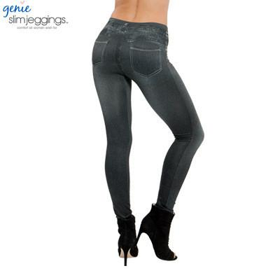 Women's Jeans Leggings 3 colors blue with 2 real pockets-GKandaa.net