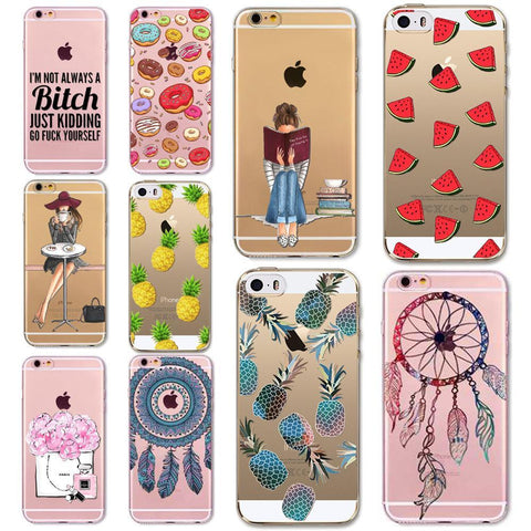 Case Cover for iPhone Soft TPU 5/ 5S/ SE/ 6 /6S/ 6Plus-GKandaa.net