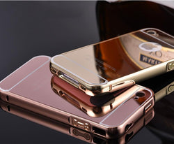 Coque For iPhone 4 4g 4s Gold Plating Aluminum Alloy Metal Frame Capa Fundas Mirror Acrylic Back Cover Phone Case Accessories - GKandAa - 1