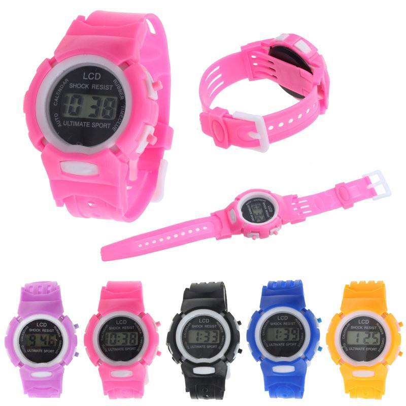 Kids' Watches student Time clock Electronic Digital LCD Display-GKandaa.net