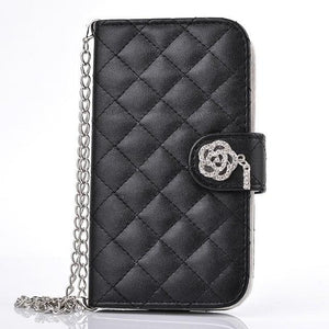 Case Cover for iPhone 5S Leather 5 diamond Glitter Wallet Leather Flip-GKandaa.net