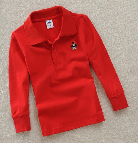 Girls T-shirts quality plain white red toddler big long sleeve cotton-GKandaa.net