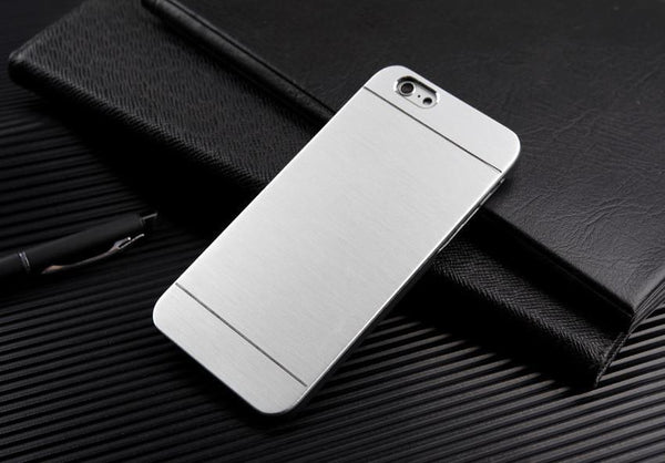 Case Cover for iPhone With LOGO Metal Shell 4 45 5S SE 6 6S Plus 4-GKandaa.net