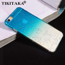 Ultra-thin Creatively 3D rain drop water raindrop hard back cover semi-transparent colorful phone case for iphone 5 SE 6 6S Plus - GKandAa - 1