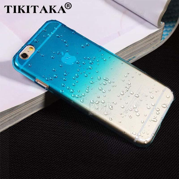 Case Cover for iPhone 3D rain drop water colorful phone 5 SE 6 6S Plus-GKandaa.net
