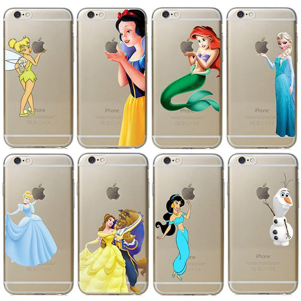 New arrive 18 stylel For Apple iphone 6 6s case Transparent Snow White TinkerBell Hand grasp the logo cell phone cases covers - GKandAa - 1