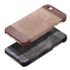 Case Cover for iPhone Hard Case 5 / 5S / SE Cowboy Luxury PU Leather-GKandaa.net