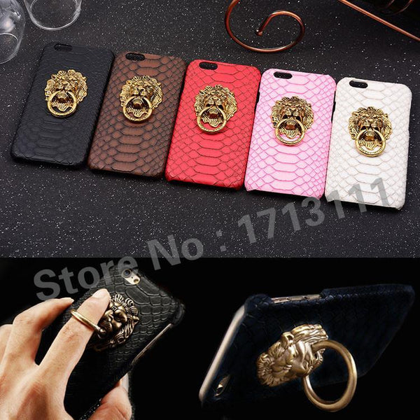 Case Cover for iPhone Luxury Sae s Hard 6 6S 7 Plus 5.5 5 5S 3D Lion-GKandaa.net