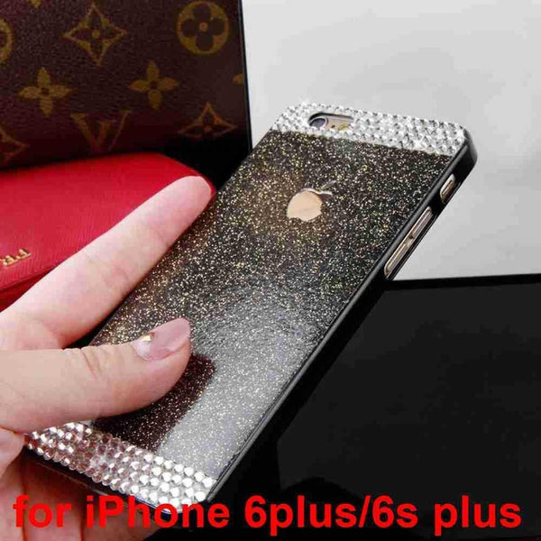Case Cover for iPhone Glitter powder 4 5 66S Plus crystal Hard-GKandaa.net