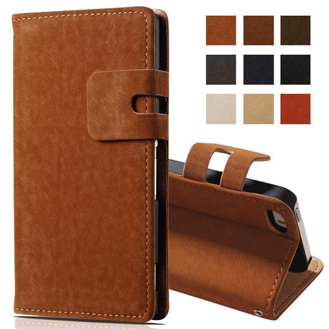 Case Cover for iPhone Vintage Soft Wallet PU Leather 5 5S SE 5SE-GKandaa.net