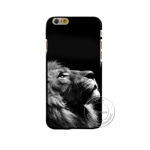 Case Cover for iPhone Lion 4 4S 5 5S SE 5C 6 6S 7 Plus 6S Plus Hard-GKandaa.net