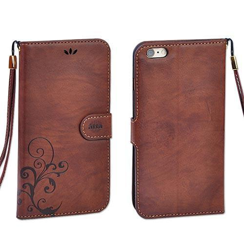 Case Cover for iPhone Retro vintage Leather 5 S SE 6 S 6 Plus-GKandaa.net
