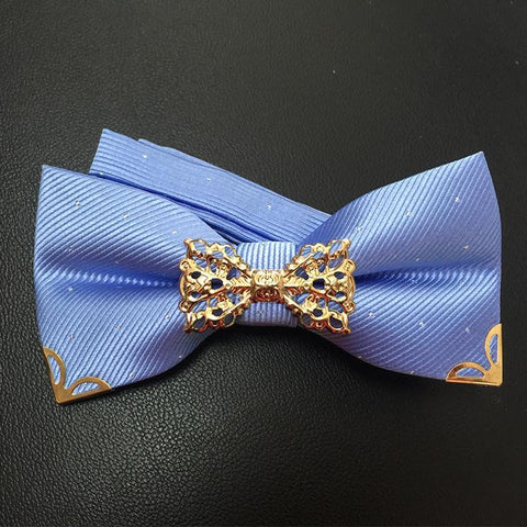 Men's Bow Ties elegant Metal Married Groom wear Butterfly-GKandaa.net