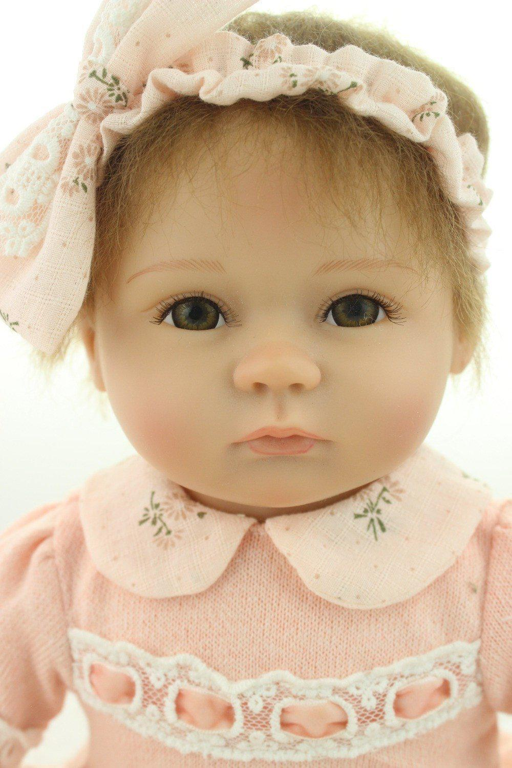 Silicone Baby Dolls 18 Inches baby soft vinyl real touch lovely baby-GKandaa.net