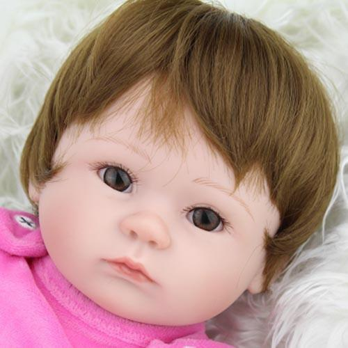 Silicone Baby Dolls 40cm Gift 16 Inches Alive Soft Bouquets-GKandaa.net