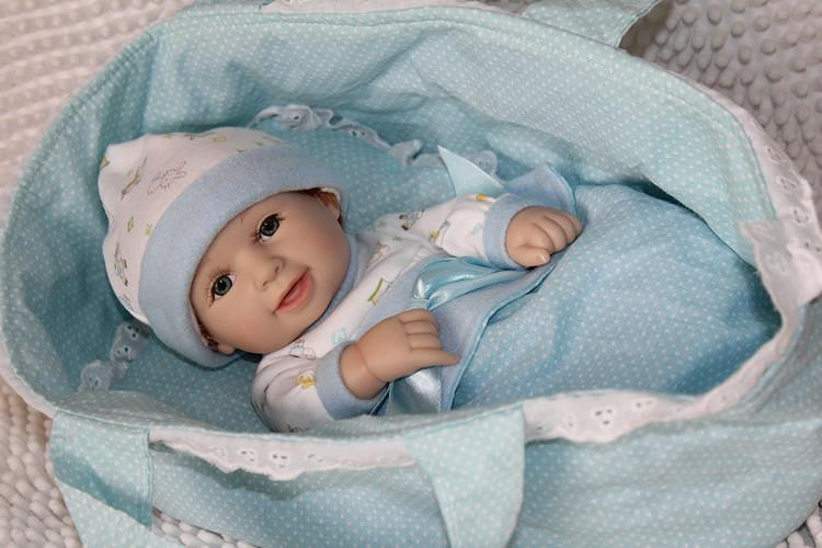 Silicone Baby Dolls mini Soft vinyl with Cradle Daughter Gift 11-GKandaa.net