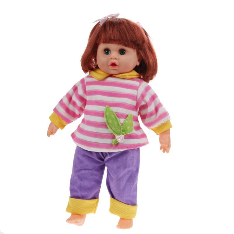 Silicone Baby Dolls 15.35'' Speaking Cut Soft Vinyl PP cotton-GKandaa.net