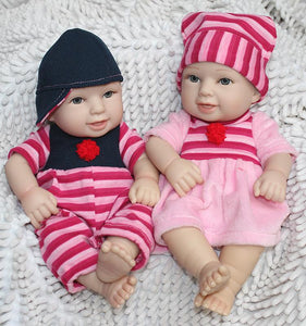 Silicone Baby Dolls 12 Inches miniature baby soft vinyl real touch-GKandaa.net