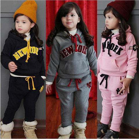 Girls Clothing Set Sport suites Hoodie + pants - GKandaa.net