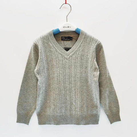 Boys Sweaters Pullover Wool Long-sleeve Spring-GKandaa.net