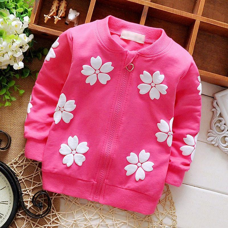Girls Sweaters 0--12 M Spring cotton hoodie jacket:-GKandaa.net