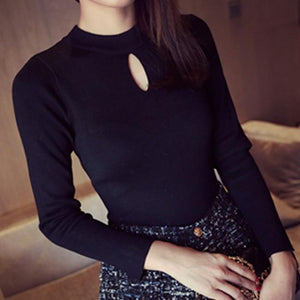 Women's Pullovers fashion spring stripe slim sweater-GKandaa.net