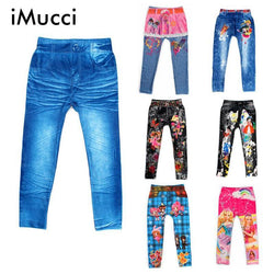 11 Styles Boy Girl Print Jeans Leggings Kids Elastic Waist Cartoon Children Clothing Cowboy Digital Printing Jeans Pants - GKandAa - 1