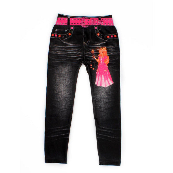 Girls Jeans Beautiful 5-9 Cow Digital cotton pants-GKandaa.net