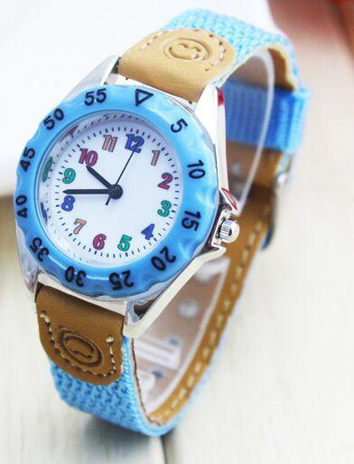 Kids' Watches Blue Boy Girl Gift Strap Lear Time Tutor student 1486-GKandaa.net