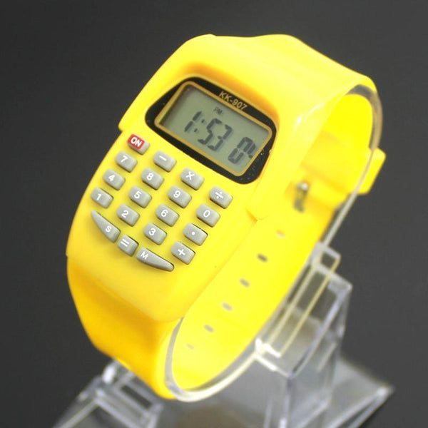 Kids' Watches Digital calculator with LED Sports-GKandaa.net