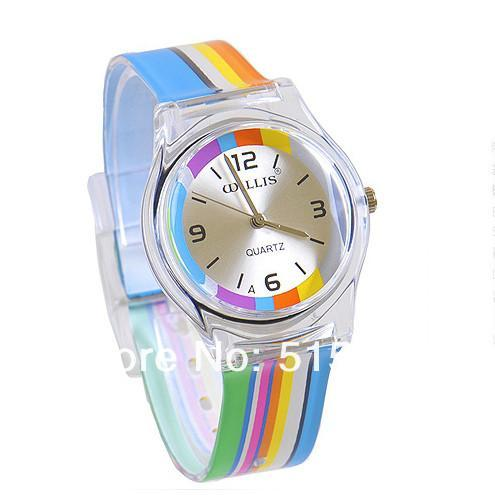 Women Wrist Watch jelly table color child fashion 0150-GKandaa.net