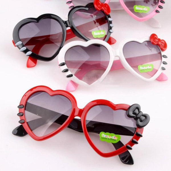 Children's sunglasses Love Heart Mirror UV400 Plastic Glasses-GKandaa.net