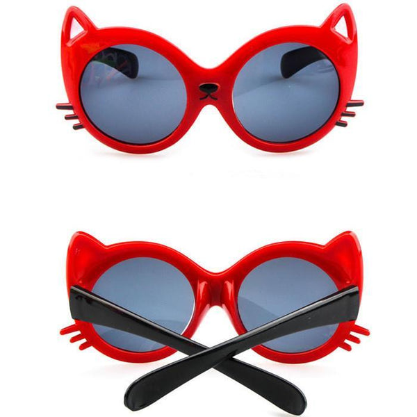 Children's sunglasses fashion cat shapes-GKandaa.net