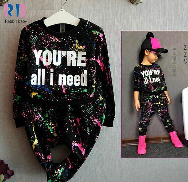 Girls Clothing Set Casual Bear -Sleeve + Legging cotton-GKandaa.net
